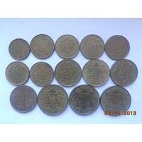 5, 10, 20, 50 тиын 1993 года (Казахстан)