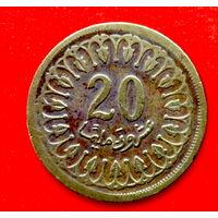34-36 Тунис, 20 миллимов 1960 г.