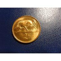 Южная Африка 2 цента 1989 г.