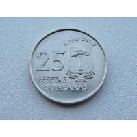 Экваториальная Гвинея.  25 песет 1969 год  KM#3