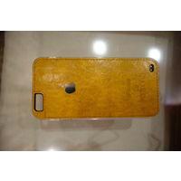 Чехол для iPhone 6, 6S желтый под кожу