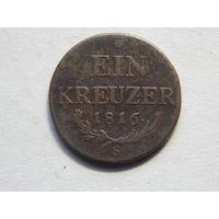 Австро-Венгрия 1 крейцер 1816г