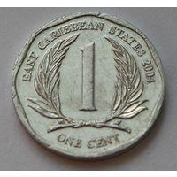 Восточные Карибы 1 цент, 2004 г.