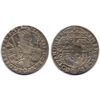 Орт 1622, Сигизмунд III Ваза, Быдгощ. Остатки штемпельного блеска на Ав, коллекционное состояние