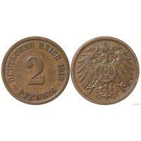 YS: Германия, Рейх, 2 пфеннига 1913F, KM# 16 (1)