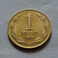 1 песо, Чили 1987 г.