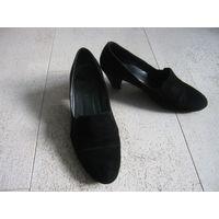 Туфли женские черные замшевые 38 р кожа