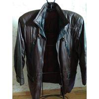Куртка мужская кожаная, в стиле 80-х.