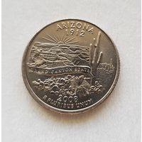 25 центов США 2008 г. штат  Аризона D