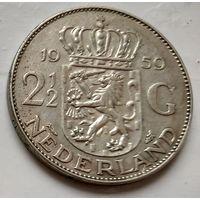 Нидерланды 2,5 гульдена, 1959 1-6-3