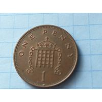 Великобритания 1 пенни, 1992   Сталь с медным покрытием /магнетик/