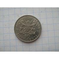 Кения 50 центов 1973г km13  редкий год