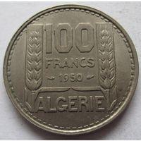 Алжир 100 франков 1950 - состояние!