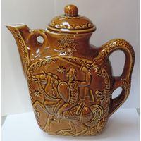 """Чайник """"Георгий победоносец"""". Керамика. Высота 24 см."""