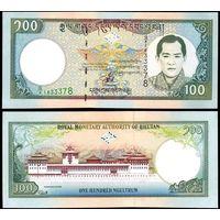 Бутан 100 нгултрум образца 2000 года UNC p25