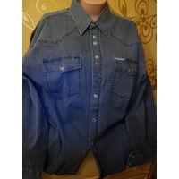 Рубашка мужская джинсовая. р. 42