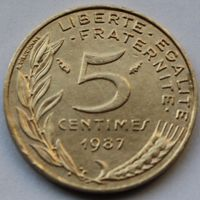 Франция, 5 сантимов 1987 г