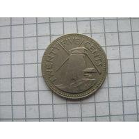 Барбадос 25 центов 1981г.
