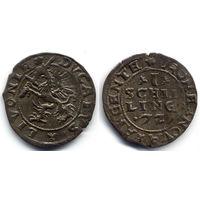Шиллинг 1572, Ливония, Далхольм (Доле). Редкое состояние для этого типа монеты, R3!