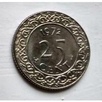 Суринам 25 центов, 1972 2-12-58