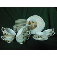 Чайный сервиз, 35 предметов. Чехословакия - Франция 1930-1940 гг