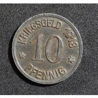 Германия 10 пфеннигов 1918 год. Кобленц. (нотгельд)