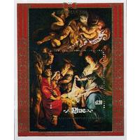 Живопись. Религия. Рождество Ниуе. 1988. 1 блок. **