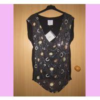 Шикарная блузка MIA F в пайетки, XL