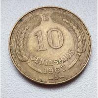 Чили 10 сентесимо, 1963 6-1-9