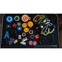 Сборный лот \ пластик (ручная работа) + браслеты (фенечки)