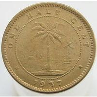 Либерия 1/2 цента 1937 латунь (338)