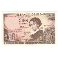 Испания 100 песет 1965 года. Состояние aUNC!