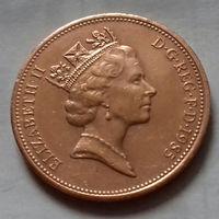 2 пенса, Великобритания 1985 г., AU