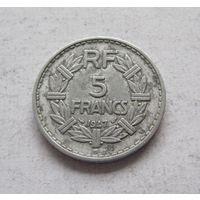 Франция 5 франков 1947 (В - Бомон-ле-Роже)  Четвертая Республика