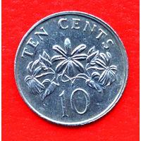 34-37 Сингапур, 10 центов 1988 г.