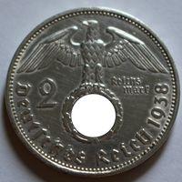 Германия, 2 марки 1938 E (серебро)