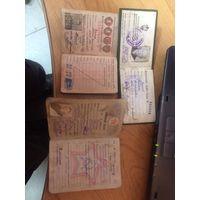 Комсомольский, военный и охотничий билет (одним лотом)