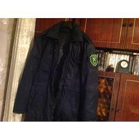 Темно-синяя форменная тёплая новая куртка 54-56/188