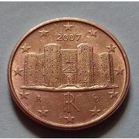 1 евроцент, Италия 2007 г.