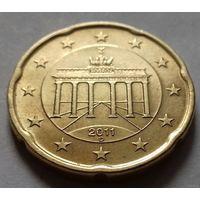 20 евроцентов, Германия 2011 D, AU