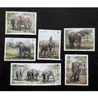 Вьетнам 1986 г. Слоны. Фауна, полная серия из 6 марок #0237-Ф1P54