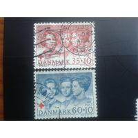 Дания 1964 Красный крест полная серия возле креста принцесса Маргарет, будущая королева