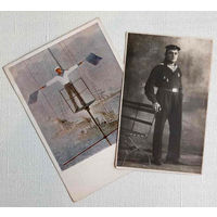 Моряк РККФ. Фотография, моряк Балтийский флот 1935-й год, знак ГТО