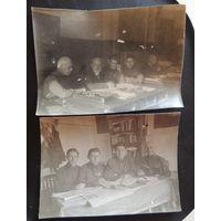"""Фото """"Заседание кафедры университета"""", 1934 г. (2 шт.)"""