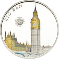 "Палау 5 долларов 2013г. ""Мир Чудес: Биг Бен"". Монета в капсуле; сертификат. СЕРЕБРО 20гр."