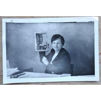 Фото из СССР. Демонстрация новой модели компьютера 1970-х. 10х15 см