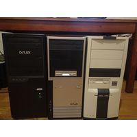 3 ПК, 2 монитора. Компьютер, системник, системный блок, провода