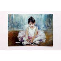 Морозова Инесса.   Портрет балеринки. Балет. Дети. Живопись. Современная чистая.