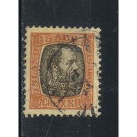 Дания Исландия Владение Служебные 1902 Христиан IX Стандарт #19