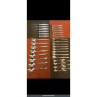 Набор столовый посеребренный 38 предметов 90 проба
